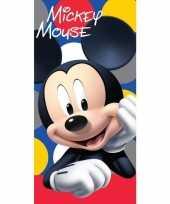 Disney mickey mouse badlaken strandlaken 70 x 140 cm 10154897