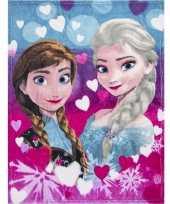 Fleece deken frozen anna en elsa 90 x 120 cm