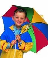 Gekleurde kinder paraplu 72 cm