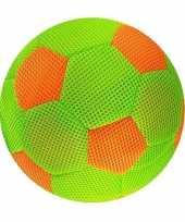 Groen oranje zachte mesh speelgoed bal voor kinderen 23 cm
