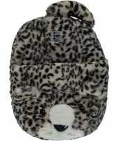 Grote panter luipaard voetenwarmer slof voor kinderen dames