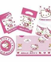 Hello kitty thema kinderfeestje versiering pakket 7 12 personen