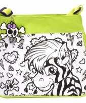 Inkleurbare zebra tas voor kinderen