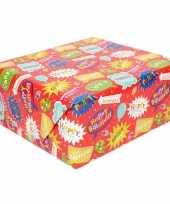 Inpakpapier kinder verjaardag met party 200 x 70 cm