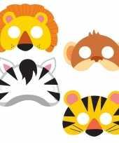 Jungle maskers 16 stuks