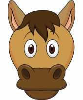 Kartonnen paarden masker voor kinderen