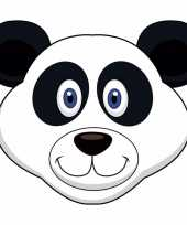 Kartonnen panda masker voor kinderen