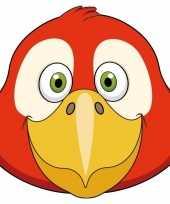 Kartonnen papegaai masker voor kinderen
