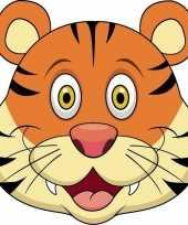 Kartonnen tijger masker voor kinderen