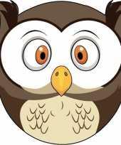 Kartonnen uilen masker voor kinderen