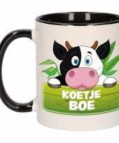 Kinder koeien mok beker koetje boe zwart wit 300 ml