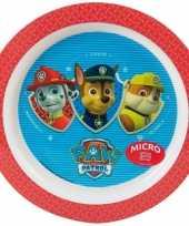 Kinder ontbijtbord paw patrol rood 22 cm