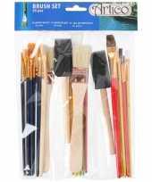 Kinder schilder penselen 25 stuks