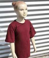 Kinder t-shirt bordeaux rood