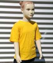 Kinder t-shirt goud geel