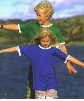 Kinder t-shirt met contrast