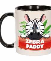 Kinder zebra mok beker zebra paddy zwart wit 300 ml