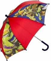Kinderparaplu ninja turtles rood 45 cm