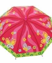 Kinderparaplu vlinders print roze multi 70 cm