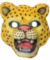 Luipaard panter verkleed dierenmasker voor kinderen