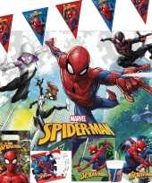Marvel spiderman kinderfeest tafeldecoratie pakket 7 12 personen