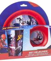 Marvel spiderman ontbijtset 3 delig kinder servies