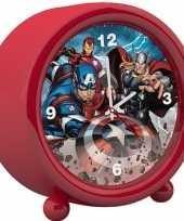 Marvel the avengers kinder wekker klokje rood 11 5 x 12 cm