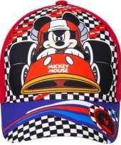 Mickey mouse pet cap rood voor kinderen