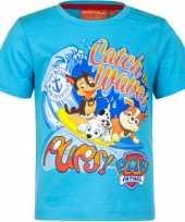 Paw patrol t-shirt blauw voor kinderen
