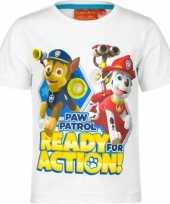 Paw patrol t-shirt wit voor kinderen