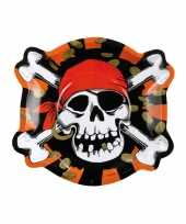 Piraten thema kinder verjaardag bordjes 12x stuks