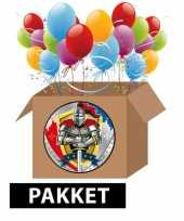 Ridder thema kinderfeest pakket