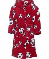 Rode badjas voetbal voor jongens