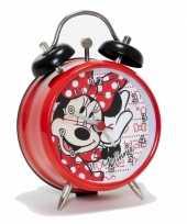 Rode minnie mouse wekker