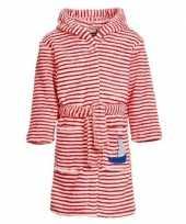 Rood witte badjas ochtendjas met strepen voor kinderen
