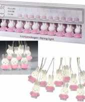 Roze nijntje led verlichting slinger