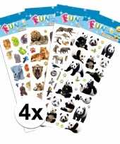 Safari thema kinder stickers pakket