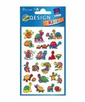 Schildpad kinder stickers 2 vellen