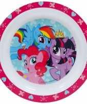 Set van 2x stuks kinder peuters ontbijtbordjes my little pony 24 cm