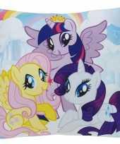 Set van 2x stuks sier bankkussens my little pony thema 35 x 35 cm