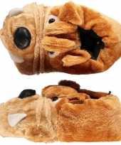 Sloffen pantoffels bulldog voor kinderen mt 33 34