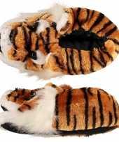 Sloffen pantoffels tijgerhoofd voor kinderen mt 35 36