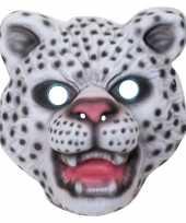 Sneeuwluipaard sneeuwpanter verkleed dierenmasker voor kinderen