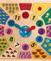 Speelgoed klok hout