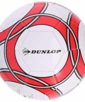 Speelgoed voetbal wit rood 21 cm voor kinderen volwassenen
