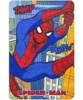 Spiderman fleece deken plaid multikleur voor jongens