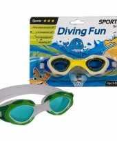 Sport zwembril groen voor kinderen 3 8 jaar
