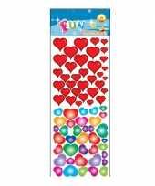 Stickervel gekleurde hartjes