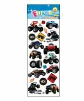 Stickervel monstertrucks