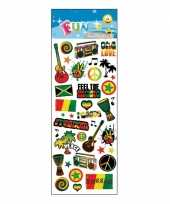 Stickervel reggae muziek thema